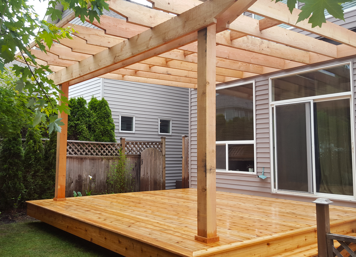 Stunning Pergola from WhalleyWorks landscape carpentry - Nanaimo BC yard work